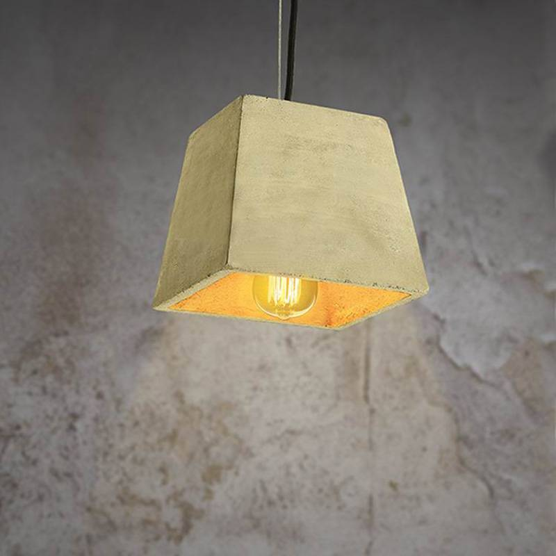 Industrial cement pendant light edition bulbs bar lighting loft styles vintage pendant light