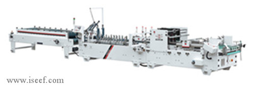 High speed Corrugated paper Folder gluer (Automatic deflection correction) Model SHH-C