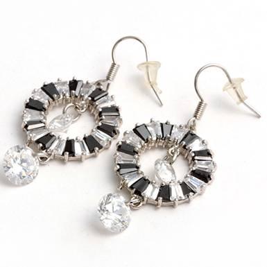 earring cubic zirconia sterling silver
