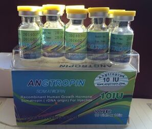 Real Angtropin with anti-fake code, 100IU, yellow top