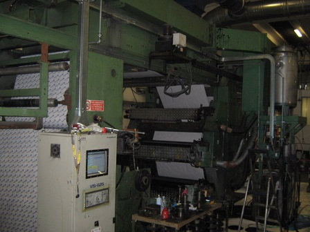 Stack type 6 color flexo printing machine