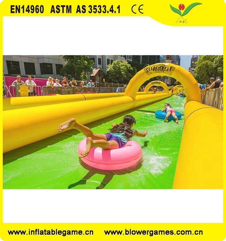 Summer Popular the City Water Slide Inflatable Slip N Slide