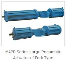 Large Valve Pneumatic Actuator of Fork Type