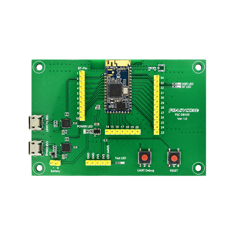 DB105-BW236   RTL8720DN Chip BLE 5 & Wi-Fi Combo Module Evaluation Board