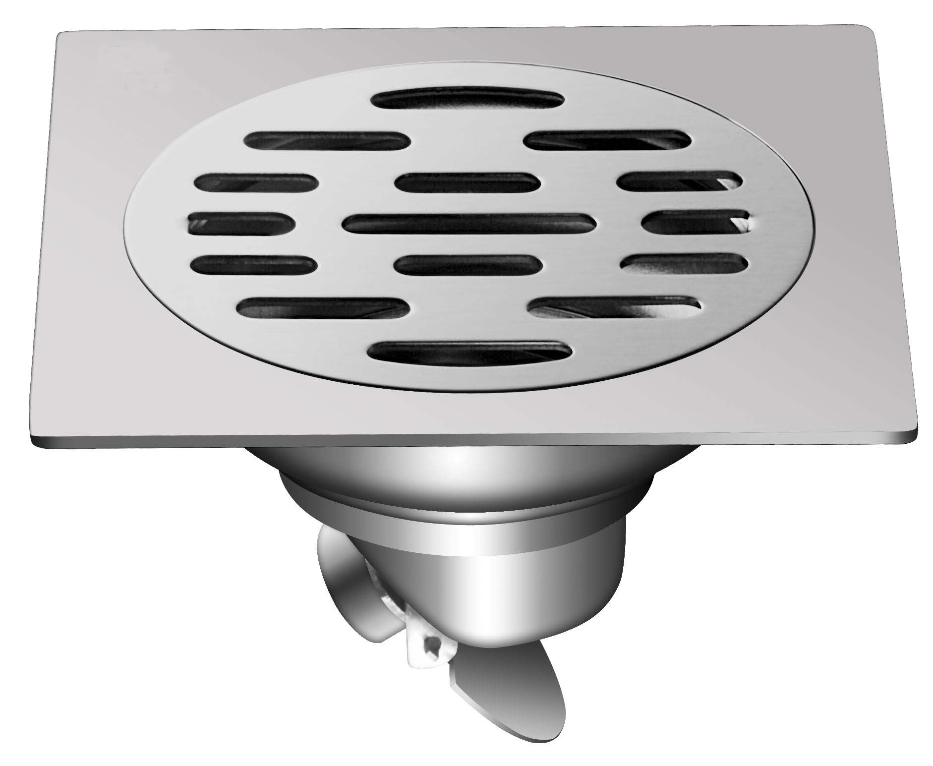 Stainless Steel Square SUS Self-Closed Floor Drain