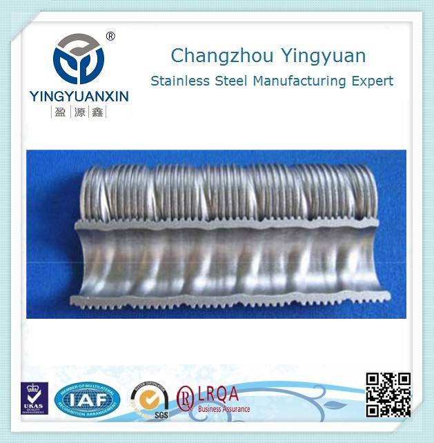 Low corrugated fin (bF) of pipe