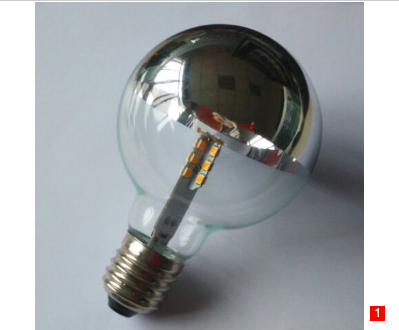 G25 Globe Crown silver LED lamp