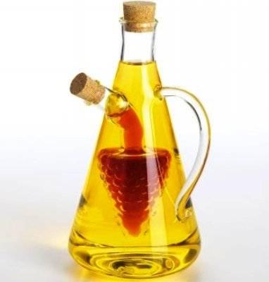C&C glass oil and vinegar glass cruet bottle