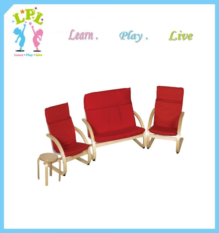 Factory direct supply children furniture bentwood kids sofa