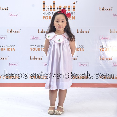 Adorable tulip embroidery girl dress