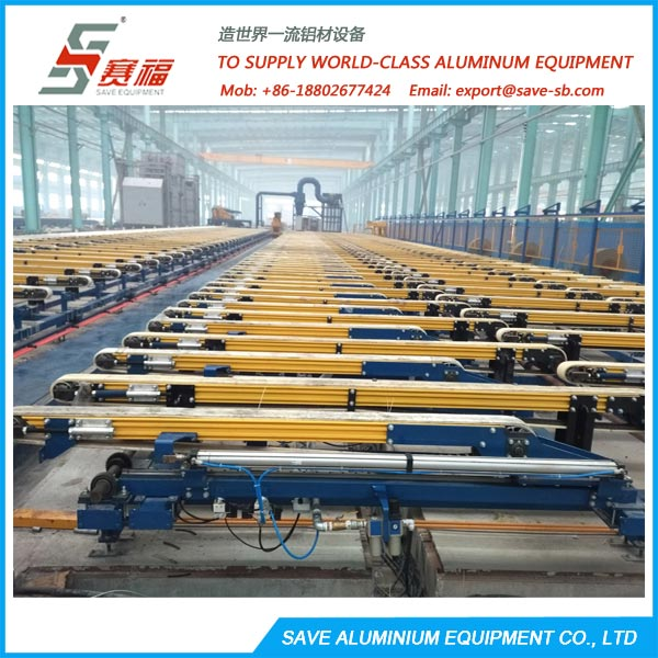 Aluminium Extrusion Profile Flat Transfer Type Run Out Table