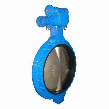 JR-BT-16 Wafer type butterfly valve with ductile iron body and rubber seal