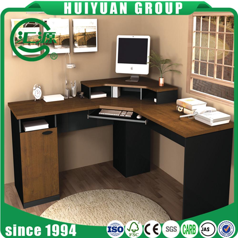 2017 hot sale modern computer desk with bookshelf photos