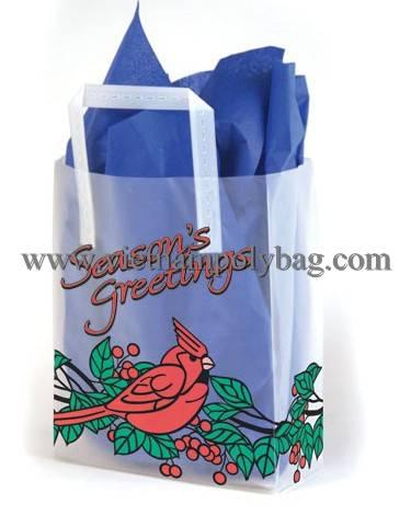 Vietnam tri fold hard handle poly plastic carrier gift bag