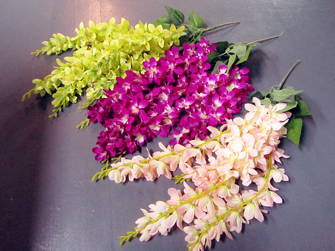 Rattan Strip Wisteria Artificial Flower Vine For Wedding Home Party Kids Room Decoration