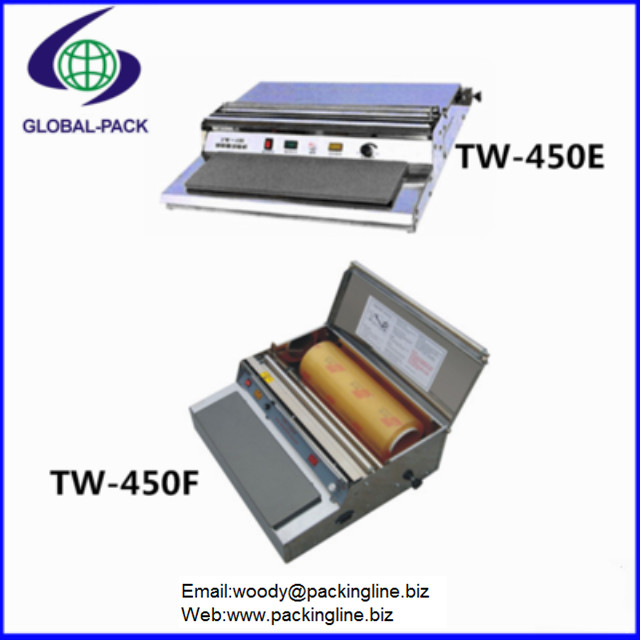 Small business tray cling film packing machine TW-450 Series