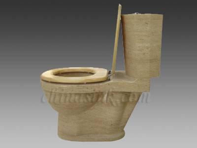 Beige Travertine Toilet