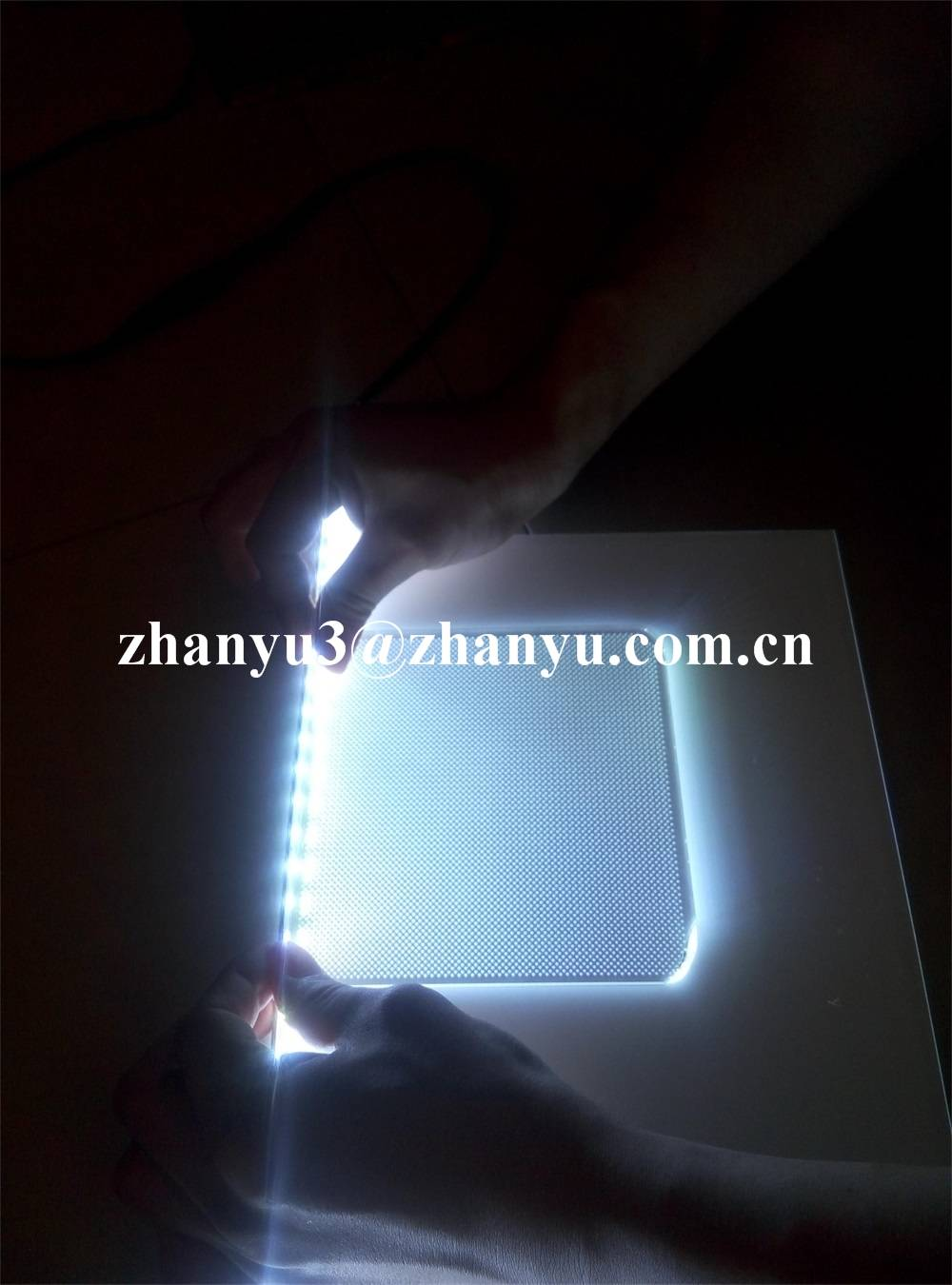 100% New Material Virgin Lucite Laser Dotted Acrylic Light Guide Panel