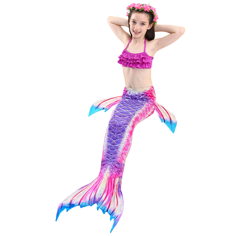 Hot Selling Mermaid Swim Kids Dress Girls Swim Wear Mermaid