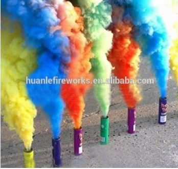 Liuyang Happy fireworks daytime special fireworks color smoke grenadee tubes cake fireworks