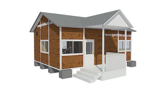 small single floor convenient prefab steel houses,53.00 sq.m.