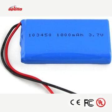 3.7v 2000mAh rechargeable lipo battery supplying