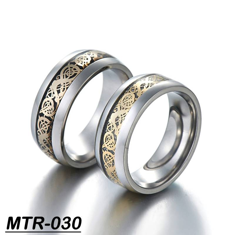 fashion tungsten carbide finger ring with UP mark inlay china dragon ring