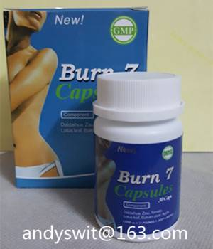 100% Herbal Burn 7 Slimming Product Best Weight Lose Capsules OEM GMP