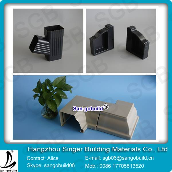 Durable 3.4mm thickness PVC Rain Gutter