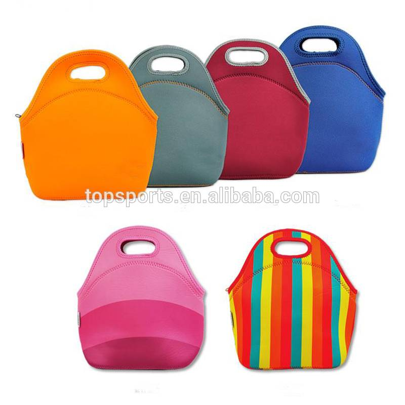 Waterproof neoprene silk screen or heat transfer printing lunch bag, picnic bag