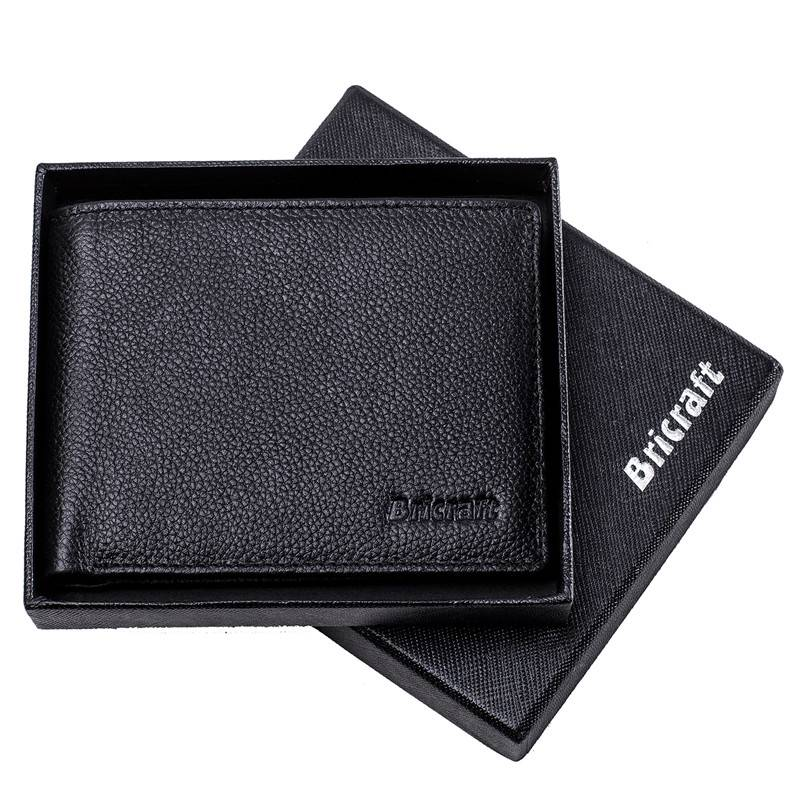 Full Grain Genuine Leather RFID Card Clutch Wallet  with Photo and Licence Window