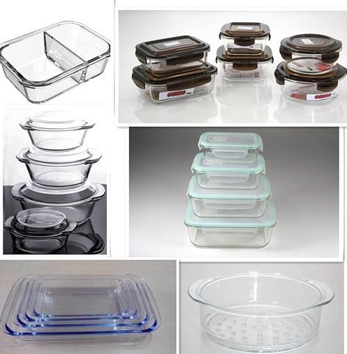 high borosilicate glass food contaier