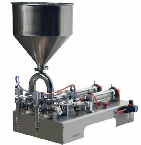 Small Semi-auto Paste Double Heads Bottle Liquid Filling Machine for Shampoo,Oil,Juice
