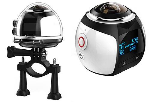 COMVEA 360 Degree Pano View HD Sports Action Camera With WIFI Function