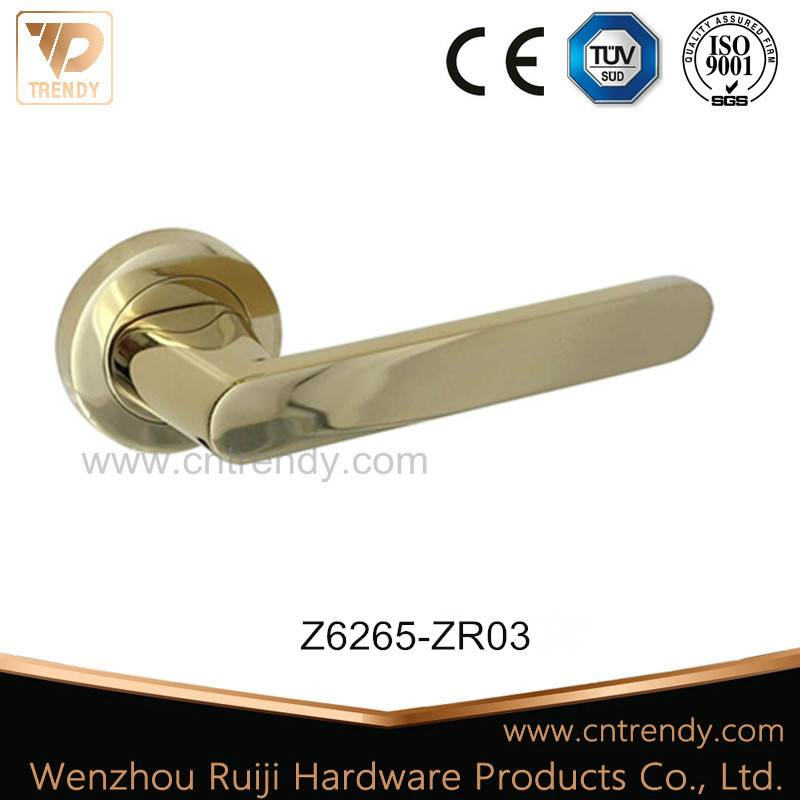 Wenzhou Privacy Zinc Alloy Aluminum Lever Door Handle (Z6265-ZR03)