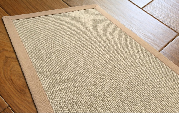 natural sisal area carpet with beige cotton bind edge,sisal rug