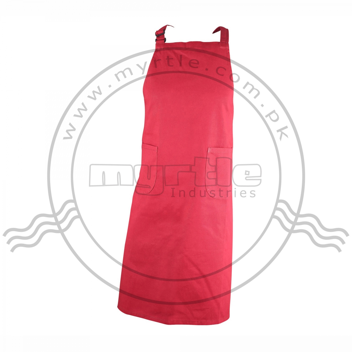 Apron With Two Pockets and Bib