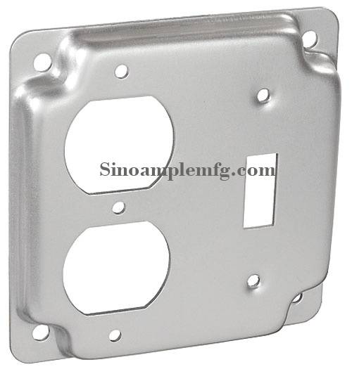 Raised Duplex Receptacle and Toggle Switch Industrial Surface Junction Box Cover (SCV-20690)