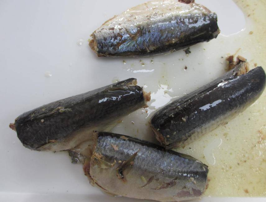 Canned mackerel in vegetable oil