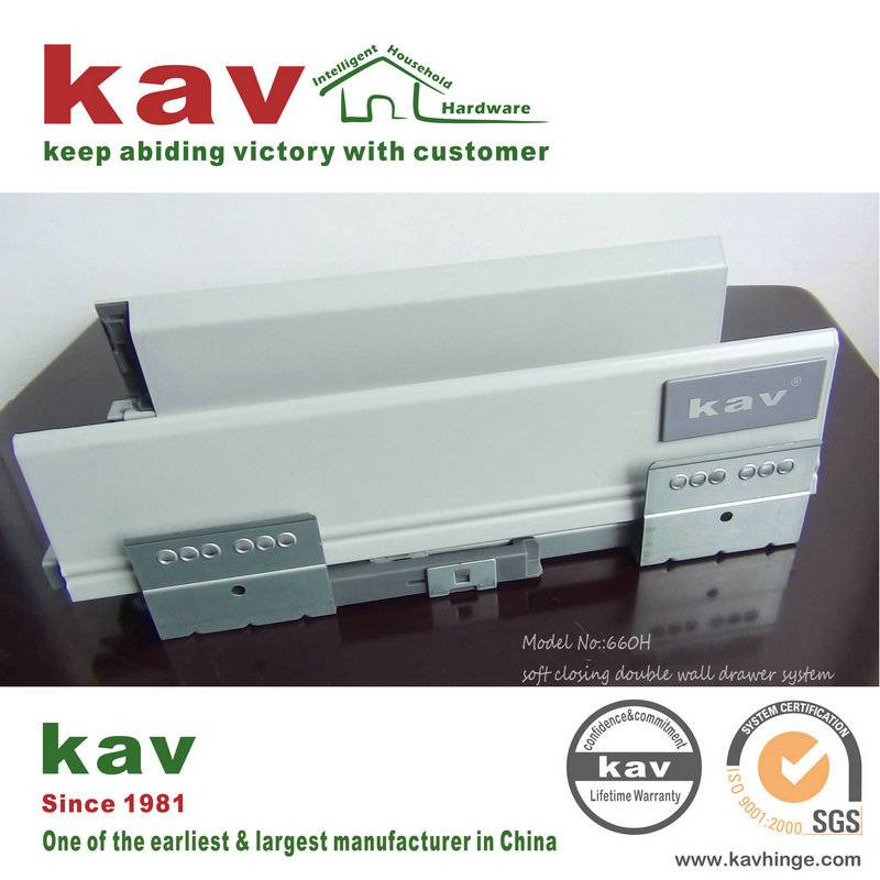 soft close double wall drawer system