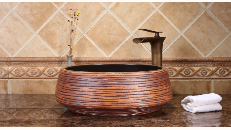 Hotel Luxury Handmade Bathroom Above Counter Top Washbowl Without Faucet Ceramic Wash Basin