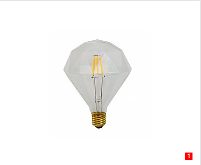 E26 3.5W Diamond LED filament decorate light