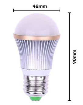 Aluminum E27 Dimmable 9w 180 Degree White Warm Cool White led bulb light