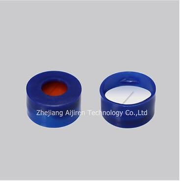 SC1011102 Pre-slit White PTFE Red Silicone Septa Blue Snap-top Polypropylene cap for autosampler via