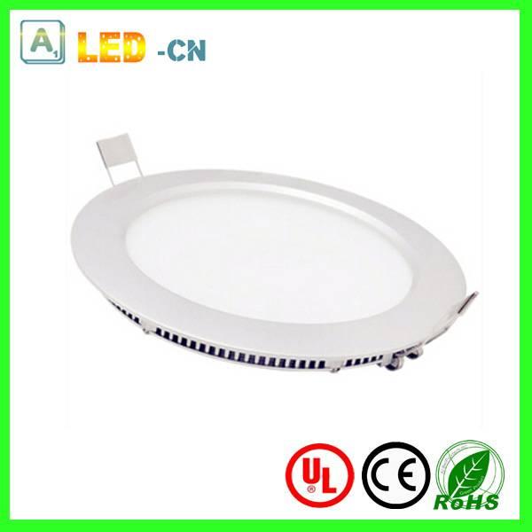 Ultra slim 12W led recessed round panel lamp