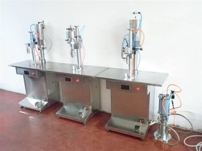 semi-automatic aerosol filling machine