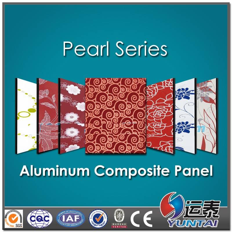 pearl surface Aluminum composite panel for Interior decorate
