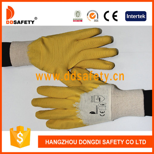 Cotton with yellow latex glove-DCL403