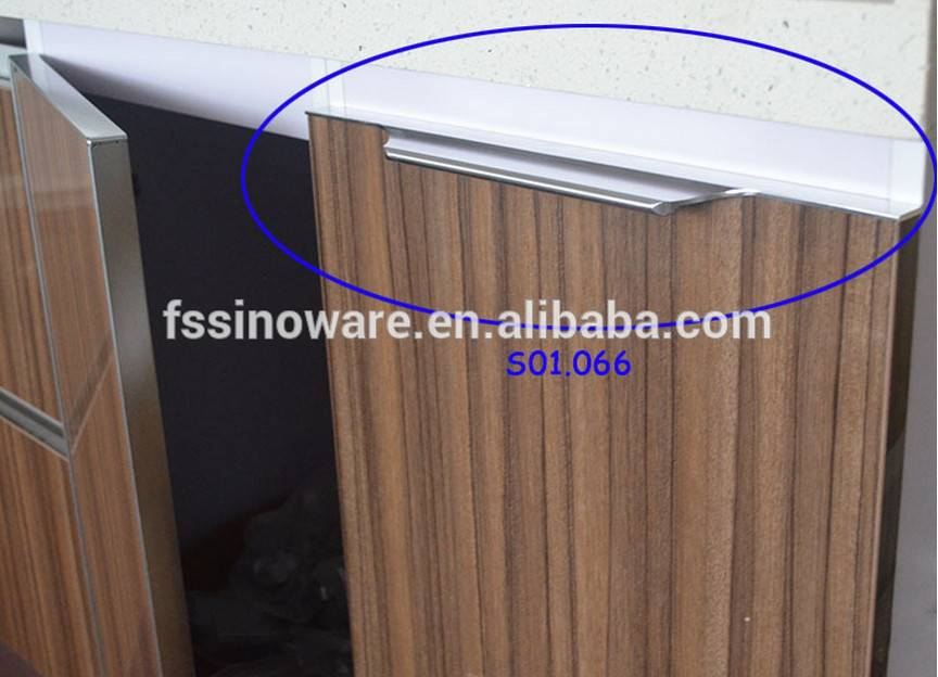 Popular Aluminum Edge Handle modern Kitchen Cabinet Handles
