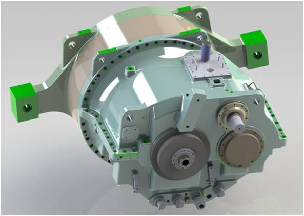 Windpower Gearbox-2MW One-stage Planetary And Two-stage Parallel Shaft Wind Turbine Main Gearbox